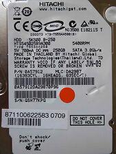 250 GB Hitachi HTS545025B9A300 / 0A57912 / DA2987 / JUN-09 / 0A58732  DA2739C