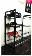 4 Layer Metal Shoe Rack Storage Shoes Organizer Standing Tier Shelf Fit 12 Pairs