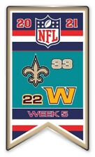2021 Semaine 5 Bannière Broche NFL Neuf Orleans Vs.Washington Foot Super Bol