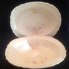 "HOMER LAUGHLIN ""BOUQUET"" OVAL VEGETABLE BOWLS (2)"