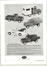 1963 PAPER AD Tonka Toy Truck Wrecker Tow Stake Camper RV Pick Up Dump
