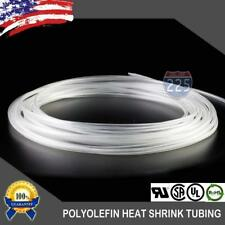 25 Ft 25 Feet Clear 18 3mm Polyolefin 21 Heat Shrink Tubing Tube Cable Us