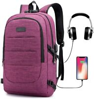 Travel Laptop Backpack 17.3 Inch Anti Theft Business Backpack with USB Charging