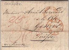 Lettre Manchester Great Britain pour la Suisse 1836 Cover Brief