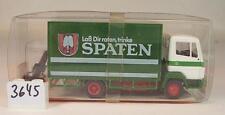 Roskopf RMM 1/87 Nr. 486 Mercedes Benz LKW Pritsche/Plane Spatenbräu OVP #3645