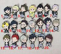 T138 Hot anime haikyuu sushi rubber Keychain Key Ring Rare straps cosplay