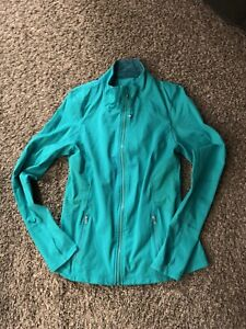 Womens Kirkland Jacket Green Size Medium Full Zip With Thumb Holes waterproof