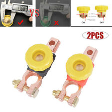 Auto Car Battery Disconnect Master Kill Cut-off Switch Brass Terminals Cut Off