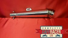 GRAND PRIX MK2 STYLE CAFE RACER EXHAUST IN STAINLESS STEEL