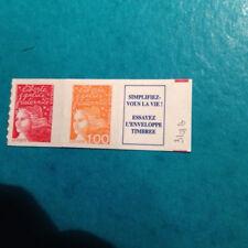 MARIANNE de LUQUET N°3085+ 3101+ vignette au type I provenant du carnet N°1508
