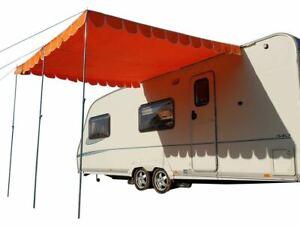 Caravan Awning Canopy Vintage Retro Style Sun Shade OLPRO - Orange