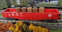 Lionel 6462 NYC Gondola Type VIII with 5 Barrels...Excellent