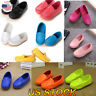 Boys Girls Kids Flat Waterpoof Shoes PU Leather Boat Sneakers Slip On Loafers