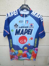 Maillot cycliste MAPEI GB vintage 1996 ROMINGER STEELS MUSEEUW shirt trikot M