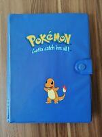 Pokemon Original Vintage 4 Pocket Folder Blue Charmander