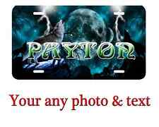 Personalized Wolfs License Plate Car Tag  Custom any text or Name.Nice Gift