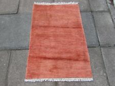 Vintage Traditional Hand Made Oriental Gabbe Wool Pink Small Rug 113x76cm