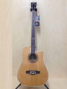 EKO NXT BASS D CW EQ Natural,4-String Acoustic Bass Guitar,Built-in EQ & Tuner