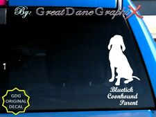 Bluetick Coonhound -Mom -Dad -Parent(s) Vinyl Decal Sticker -Color -High Quality