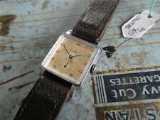Seldom winding watch FAVILLES Swiss 15 jewels serviced RECTA C8 ca 1950