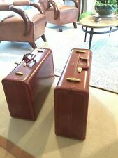Vintage 1950s Samsonite Suitcase Pair, one style # 4921, other # not known,