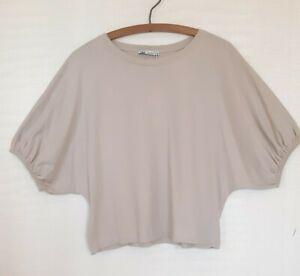 Ladies Zara jersey top t shirt Size Large cream BNWT