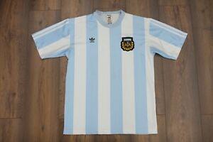 Very Rare Adidas Vintage Argentina 1988 1990 Home Soccer Football Shirt Size M