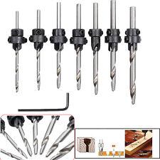 22x Tapered Drill Countersink Bit Screw Set Wood Pilot Hole Woodworking Tools Us