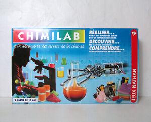 ancien jeu Nathan Chimilab boite de chimie expériences Vintage