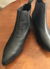 "Dejcuba"" Size 40 Black Leather Boots Rrp $150"