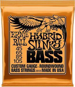 Ernie Ball Hybrid Slinky Electric Bass Guitar 4 String Set (45-105) - 2833
