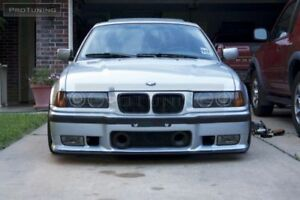 For BMW 3 Series E36 Front M Bumper M3 Grill ABS With Air Ducts