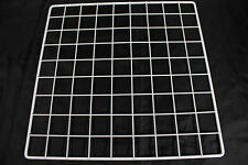 "Set 6 Mini 14"" x 14"" White Wire Grid Storage Cube Closet Garage Organizer Panels"