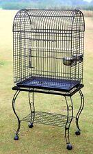 Parrot Bird Cage w Stand - 906 Black Vein