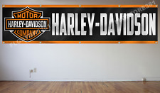 "Harley Davidson Flag Banner 2x8t Motorbike Cycle Flag Fat Road Racing 24""x96"""