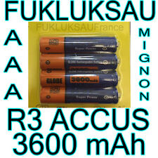 4 x PILES AAA | PILES ACCUS RECHARGEABLE MIGNON 3600mAh Ni-MH 1,2V R3 LR03 NEW