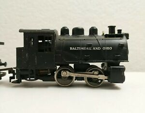 Rivarossi HO Train Baltimore and Ohio 98 Powered 0-4-0 Steam Loco w/ Extra Cars