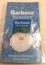 Barbour The Snowman 2018 Christmas Limited Edition Badge Pin