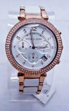 "Michael Kors MK5774 Women's Rose Gold Tone Analog Watch Size 7"" Used"