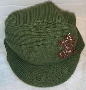 Walt Disney World Mickey Mouse Knit Cap Hat With Bill Hunter Green