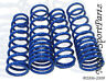 Blue Lowering Springs (4pcs Front & Rear) Ford Fiesta 2011-2012 L4 4Cyl