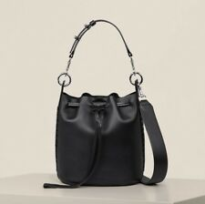 AllSaints Ray Small Bucket Bag in Black (Shoulder/Mini/Ladies/Womens/Leather)