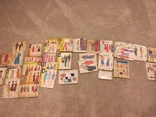 Vintage Sewing Patterns Lot of 30 1950's -90's. McCalls ,11 Patterns 1950's-1960