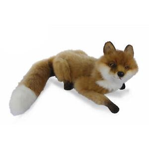 HANSA FOX LAYING REALISTIC CUTE SOFT ANIMAL PLUSH TOY 60cm L **NEW**