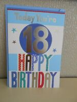 Today you're 18 Eighteen Male Birthday Card 18th Happy Birthday Card Male