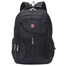 Nylon Black Backpack Satchel Outdoor Travel Laptop School Bags Men Waterproof