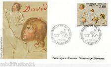 1989 ENVELOPPE ILLUSTRE FDC 1°JOUR*DAVID-JEU DE PAUMES-VERSAILLES*TIMBRE Y/T2591