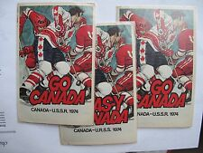 Russian Soviet USSR Go Canada Team Hockey 3 Postcard Jean Tremblay McKenzie 1974