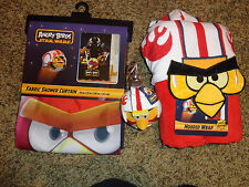 Angry Birds Star Wars Bath Set  Shower Curtain ,Soap pump  ,Towels bathroom