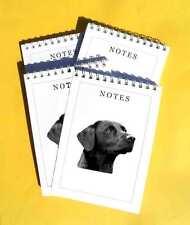 Black Labrador Retriever Pack of 4, A6 Dog Notepads Gift Set